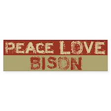 Peace Love Bison Bumper Bumper Stickers