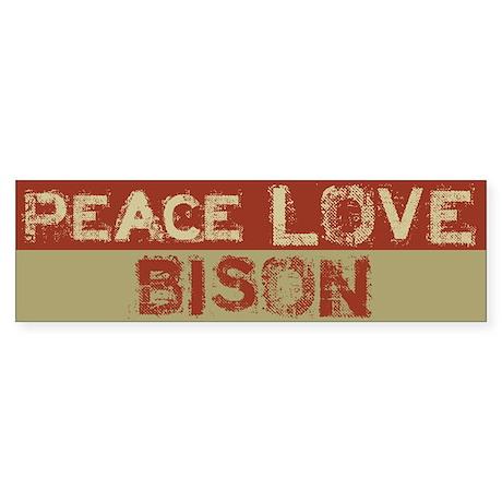 Peace Love Bison Bumper Sticker