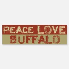 Peace Love Buffalo Bumper Bumper Bumper Sticker