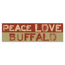 Peace Love Buffalo Bumper Bumper Stickers