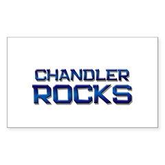chandler rocks Rectangle Sticker