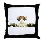 Teabag The Capitol Throw Pillow