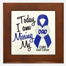 Missing My Dad 1 CC Framed Tile