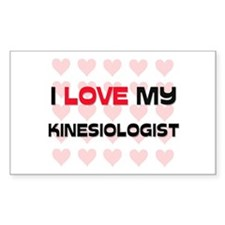 I Love My Kinesiologist Rectangle Decal