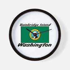 Bainbridge Island Washington Wall Clock