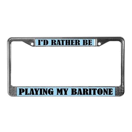 Fun Baritone Music License Plate Frame