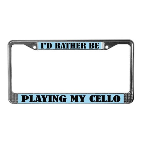 Play The Cello License Plate Frame