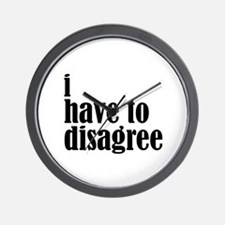 Disagree Wall Clock