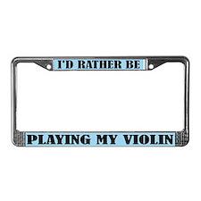 Play Violin License Plate Frame