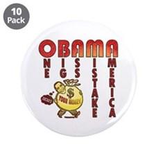 "Obama one big ass mistake America 3.5"" Button (10"
