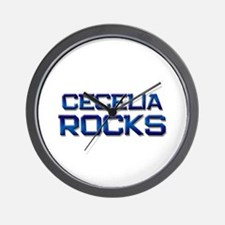 cecelia rocks Wall Clock
