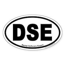 Dental Software Expert DSE Euro Oval Decal
