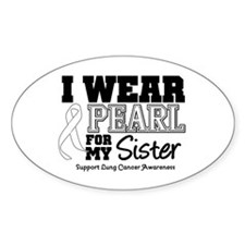 IWearPearl Sister Oval Decal
