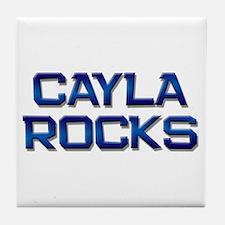 cayla rocks Tile Coaster