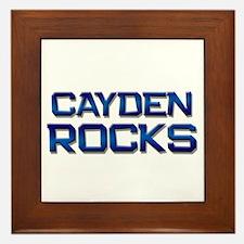 cayden rocks Framed Tile
