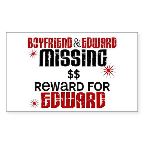 Boyfriend & Edward Missing TWILIGHT Sticker (Recta