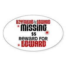 Boyfriend & Edward Missing TWILIGHT Oval Decal