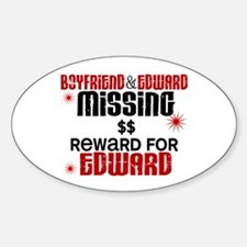 Boyfriend & Edward Missing TWILIGHT Oval Decal
