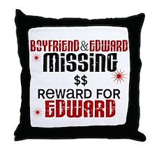Boyfriend & Edward Missing TWILIGHT Throw Pillow