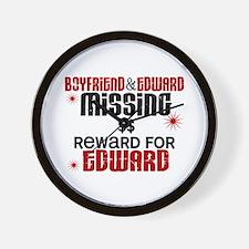 Boyfriend & Edward Missing TWILIGHT Wall Clock