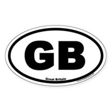 Great Britain GB Euro Oval Decal