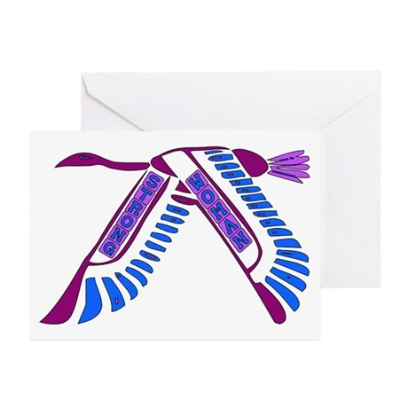 Strong Woman Flying Greeting Cards (Pk of 10)