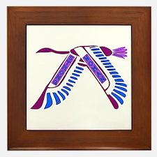 Strong Woman Flying Framed Tile