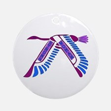 Strong Woman Flying Ornament (Round)