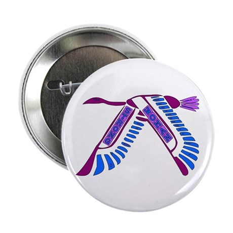 """Strong Woman Flying 2.25"""" Button (100 pack)"""