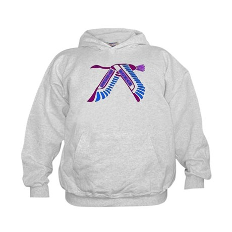 Strong Woman Flying Kids Hoodie