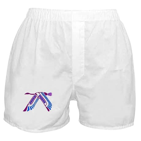 Strong Woman Flying Boxer Shorts