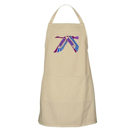 Strong Woman Flying BBQ Apron