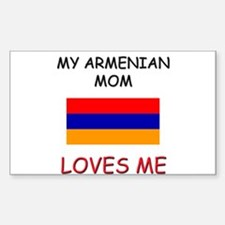 My Armenian Mom Loves Me Rectangle Decal