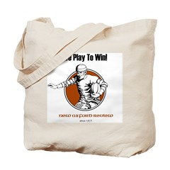 We Play to Win Tote Bag