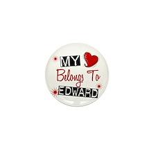 My Heart Belongs To Edward Mini Button