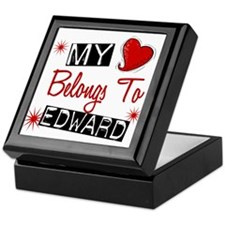 My Heart Belongs To Edward Keepsake Box