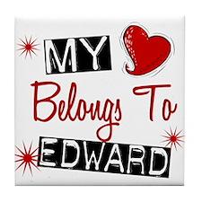 My Heart Belongs To Edward Tile Coaster