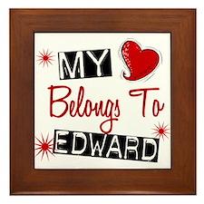 My Heart Belongs To Edward Framed Tile