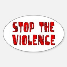 Stop The Violence Oval Decal