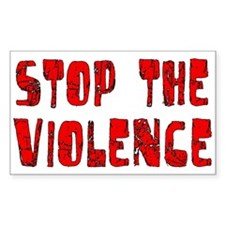 Stop The Violence Rectangle Decal