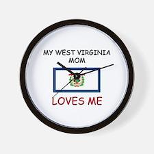 My West Virginia Mom Loves Me Wall Clock