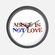 Abuse Is Not Love Wall Clock
