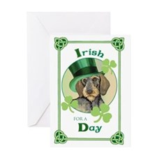 St. Pat Wirehaired Dachshund Greeting Card