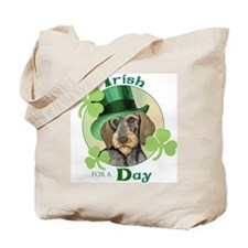 St. Pat Wirehaired Dachshund Tote Bag