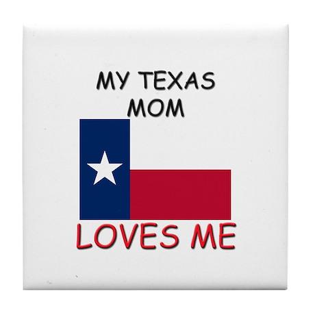 My Washington Mom Loves Me Tile Coaster