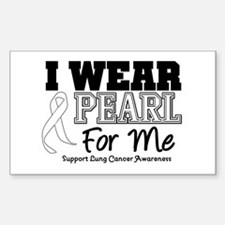 I Wear Pearl For Me Rectangle Sticker 10 pk)