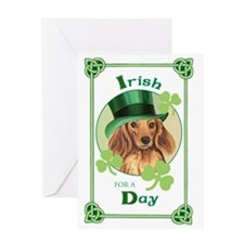 St. Pat Longhaired Dachschund Greeting Card
