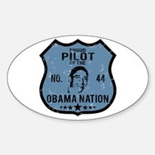 Pilot Obama Nation Oval Decal