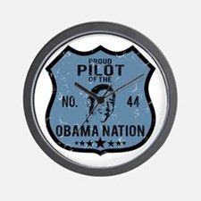Pilot Obama Nation Wall Clock