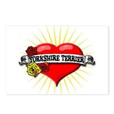 Yorkshire Terrier Heart Postcards (Package of 8)